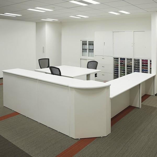 日本製  送料無料 スチール製 受付 ハイカウンター W1200×D450×H960 棚付き 横連結可能  オフィス家具|sora-ichiban|05