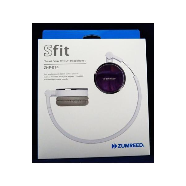 ZUMREED ズムリード Sfit ZHP-014 Smart・Slim・Stylish Headphones 【Violet バイオレット】【訳あり品】