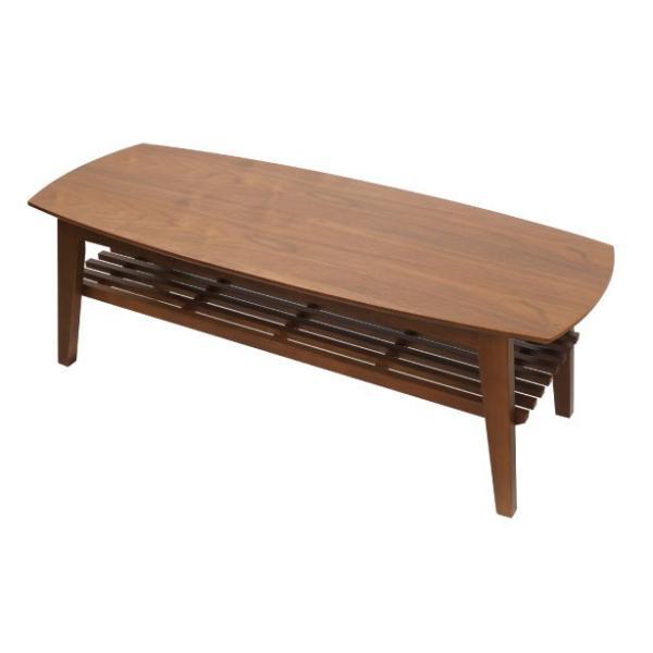 天然木天板センターテーブル コパン120 ウォルナット / 送料無料|soranew|02
