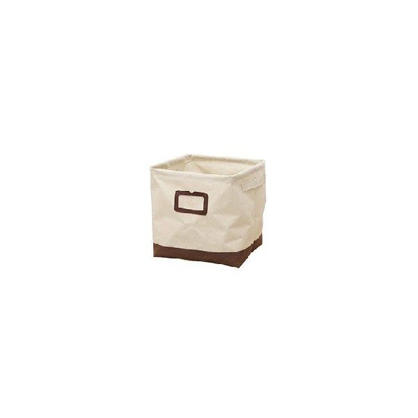 布製収納ボックス Sサイズ エマ 幅26cm ブラウン【完売】|soranew