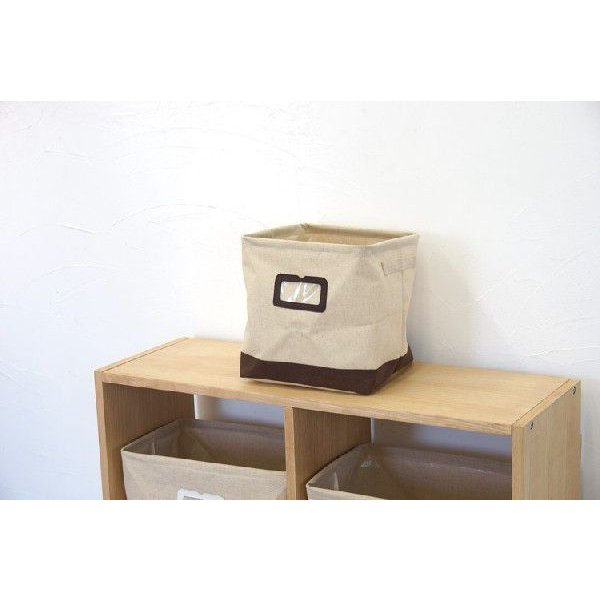 布製収納ボックス Sサイズ エマ 幅26cm ブラウン【完売】|soranew|02