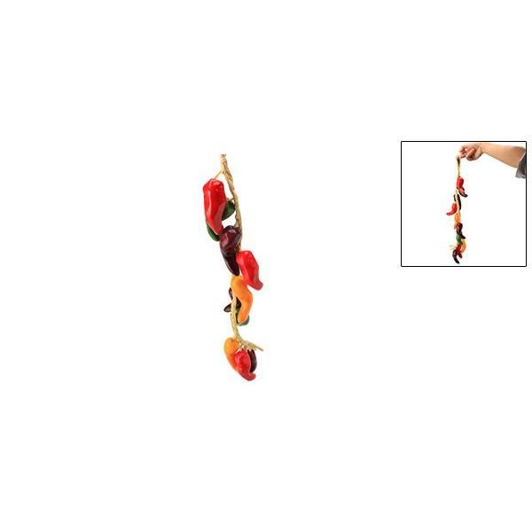 uxcell 食品サンプル 人工ペッパーガーランド 人工ペッパーバイン つるハンギング紙のガーランド 泡 プラスチック マルチカラー 人工|soten2|02