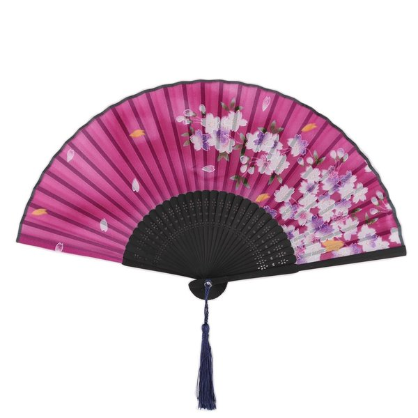 uxcell 扇子 折り畳み式扇子 花柄 精巧 レディース パーティー 夏の日 手工芸 ギフト soten2