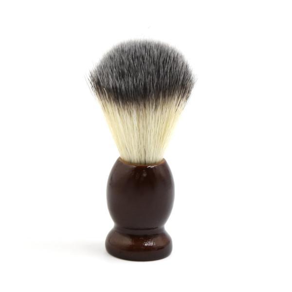 uxcell シェービングブラシ サロン 理容ツール メンズ 木製ハンドル ひげ剃り ダークブラウン|soten2