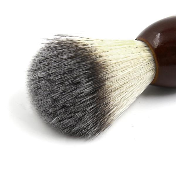 uxcell シェービングブラシ サロン 理容ツール メンズ 木製ハンドル ひげ剃り ダークブラウン|soten2|06
