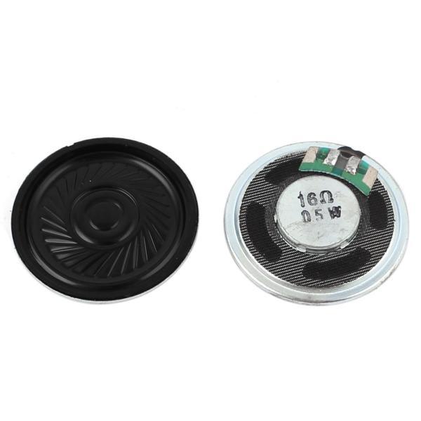 uxcell 内部スピーカー 内部磁石スピーカー マグネットスピーカー 2個 ラウンド 0.5W 16Ohm