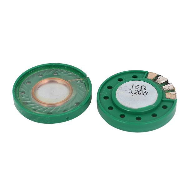 uxcell 内部スピーカー マグネットスピーカー ホーンスピーカー 外部 直径29mm 丸い 0.25W 16 Ohm 2個