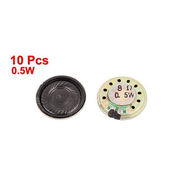 uxcell 内部スピーカー マグネットスピーカー 磁気スピーカー 内部の磁気スピーカー 0.5W 20mmの直径 8オーム 10個