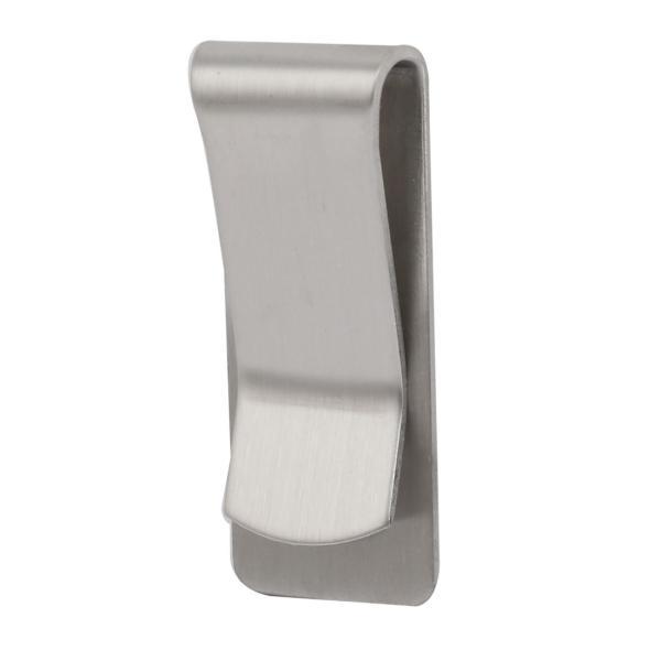uxcell マネークリップ シルバートーン ステンレススチール材質 ブラッシュ マネーループクリップ 5個入り