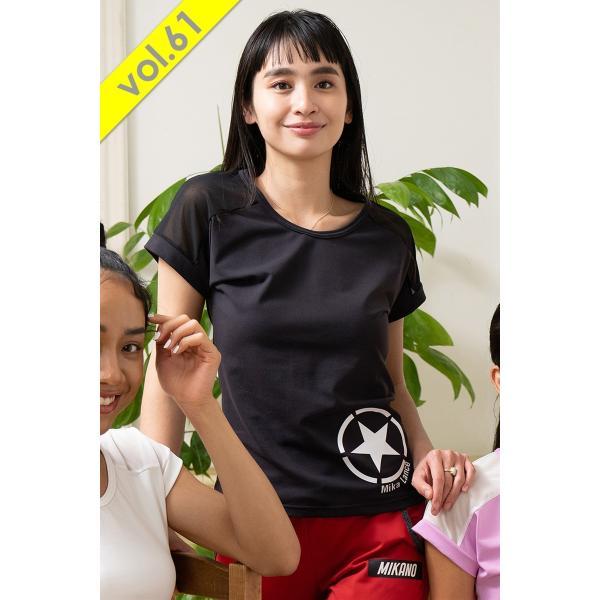 MIKANO ミカノ MIKALANCE ミカランセ 肩メッシュ切替エアリーTシャツ V61 60716【フィットネス ウェア】