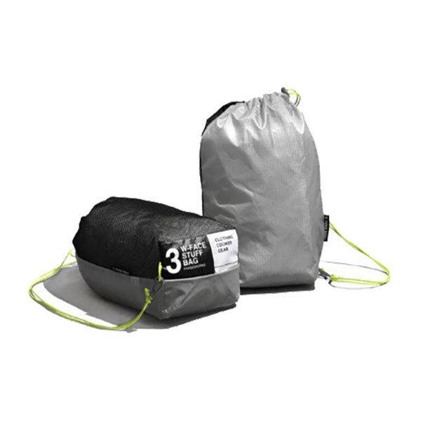 PaaGo WORKS パーゴワークス W-FACE STUFF BAG 3 日常から非日常まで365日使えるスタッフバッグ(3L) 【トレイルランニング/アウトドア/ドライバッグ/防水/携行/