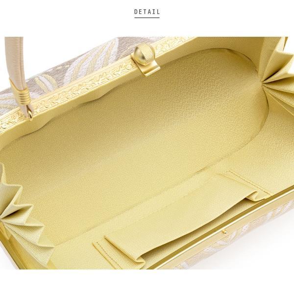 草履バッグセット 留袖 訪問着 礼装 ベージュ パープル 金色 グラデーション 七宝繋ぎ 二枚芯 正絹 日本製 Mサイズ Lサイズ 送料無料|soubien|04