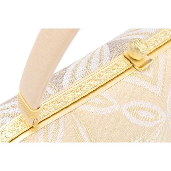 草履バッグセット 留袖 訪問着 礼装 ベージュ パープル 金色 グラデーション 七宝繋ぎ 二枚芯 正絹 日本製 Mサイズ Lサイズ 送料無料|soubien|05