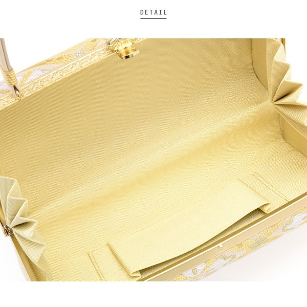 草履バッグセット 留袖 訪問着 礼装 ベージュ 金色 緑 オレンジ 花菱 二枚芯 正絹 日本製 Mサイズ Lサイズ 送料無料 soubien 04