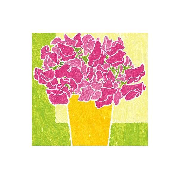 絵画 花の絵 インテリア 壁掛け 版画 玄関 おしゃれ/絵画 黄色の鉢とピンクのスイートピー/藤谷壮仁郎 Soujirou Art|soujirou-web-shop|04