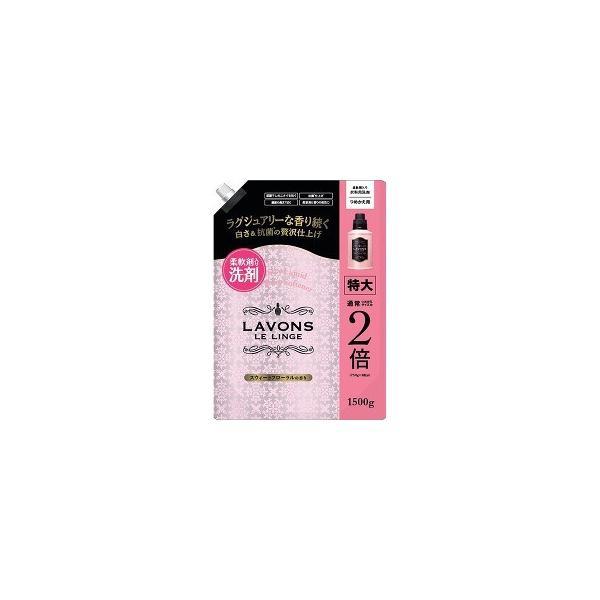 ラボン 柔軟剤入り洗剤 特大 スウィートフローラル 詰め替え ( 1500g )/ ラ・ボン ルランジェ ( 部屋干し )