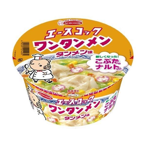 (訳あり)エースコック ワンタンメンどんぶり タンメン味 ( 12個入 )/ エースコック