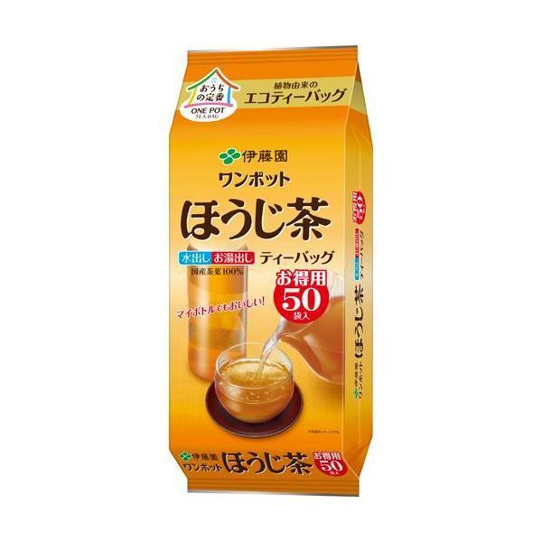 伊藤園 ワンポット ほうじ茶 エコティーバッグ ( 3.5g*50袋入 )