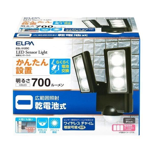 エルパ LEDセンサーライト 乾電池式 ESL-312DC ( 1コ入 )/ エルパ(ELPA)