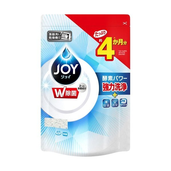 ハイウォッシュジョイ 食洗機用洗剤 除菌 つめかえ用 ( 490g )/ ジョイ(Joy)