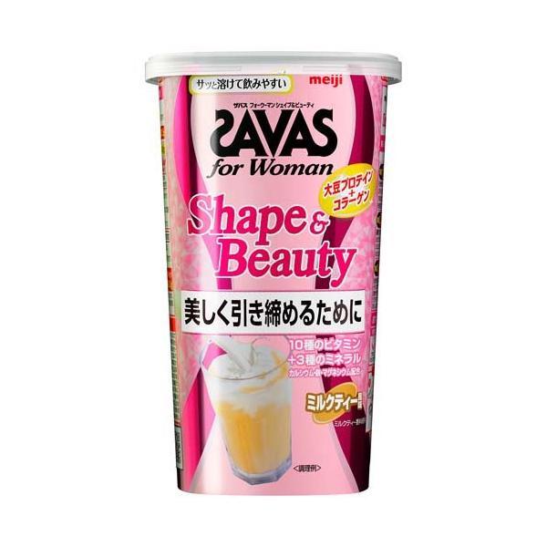 ザバス フォーウーマン シェイプ&ビューティ ミルクティー風味 約12食分 ( 252g )/ ザバス(SAVAS)