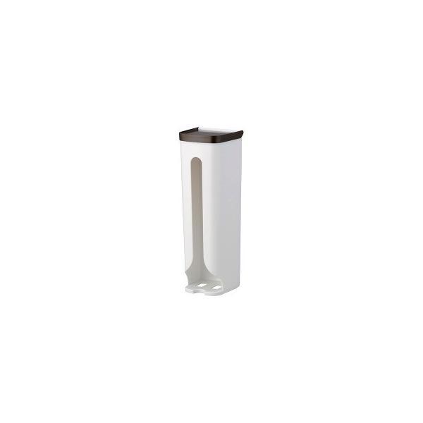 レジ袋ストッカー ブラウン 吸盤用補助シール付き 0097 ( 1コ入 )