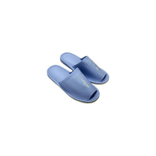 外縫 トイレ用スリッパ L TOILETヒール入 ブルー 27cm 7584 ( 1足 )
