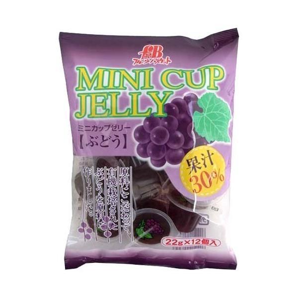 フルーツバスケット ミニカップゼリー ぶどう (有機ぶどう果汁使用) ( 22g*12コ入 )