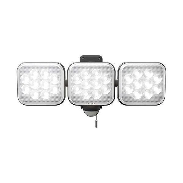 ムサシ 12W*3灯 フリーアーム式 LED センサーライト コンセントタイプ LED-AC3036 ( 1台 )