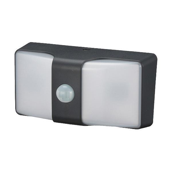 monban LEDセンサーウォールライト 乾電池式 160lm ブラック LS-BH22J4-K ( 1個 )/ OHM