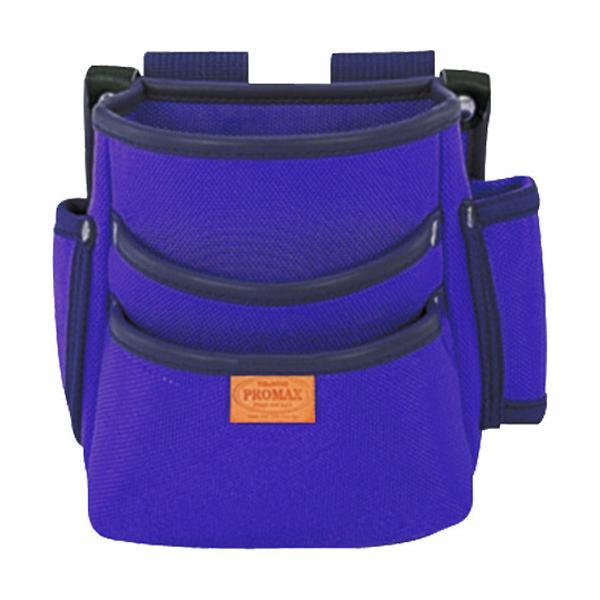 プロマックス 電工腰袋 3段・大 バイオレットブルー PM-DE3B ( 1個 )/ プロマックス