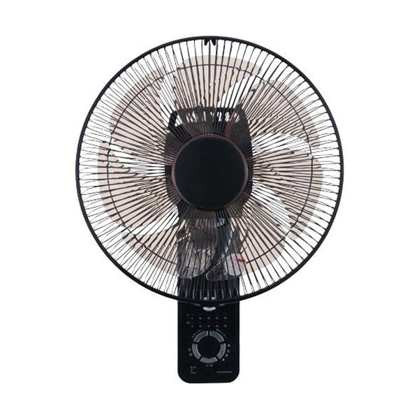 RoomClip商品情報 - YUASA DC上下左右首振り壁掛け扇風機 ブラック YTW-D361YFR(K) ( 1台 )/ YUASA PRIMUS(ユアサプライムス)
