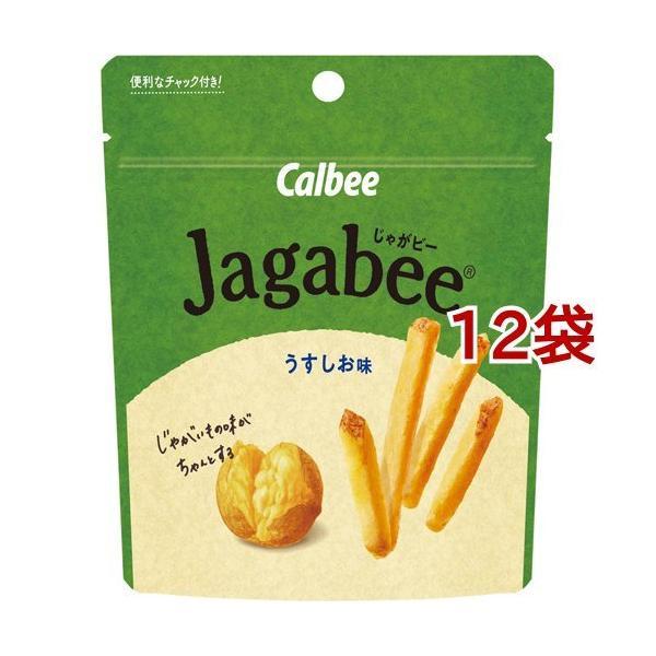 じゃがビー うすしお味 スタンドパウチ ( 40g*12袋セット )/ じゃがビー(Jagabee)