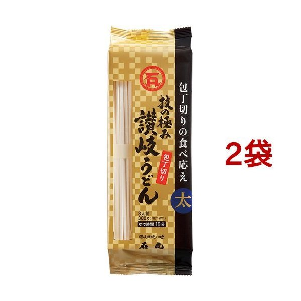 石丸製麺 技の極み 讃岐うどん包丁切り ( 300g*2袋セット )/ 石丸製麺
