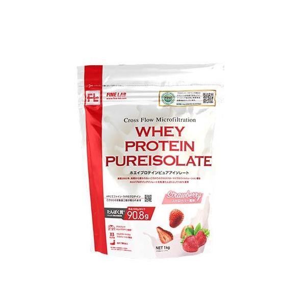 ファインラボ ホエイプロテイン ピュアアイソレート ストロベリー風味 ( 1kg )/ ファインラボ