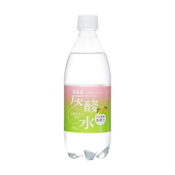 (訳あり)国産天然水仕込みの炭酸水ウメ(500ml*24本入)
