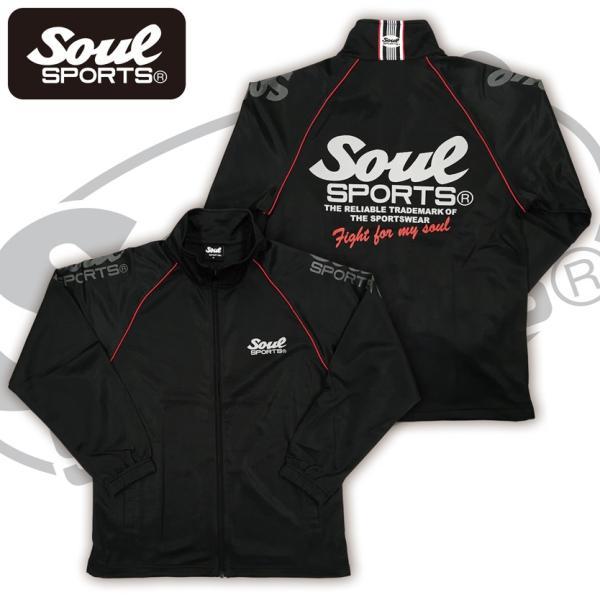 SOUL SPORTSオリジナル 肩ロゴジャージセットアップ ブラック|soul-sports|02