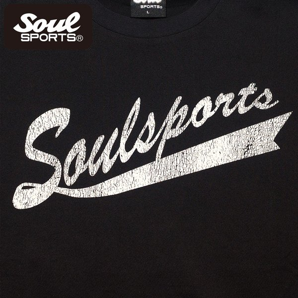 SOUL SPORTSオリジナル フェス風集合ロゴ半袖Tシャツ ブラック/ホワイト|soul-sports|06