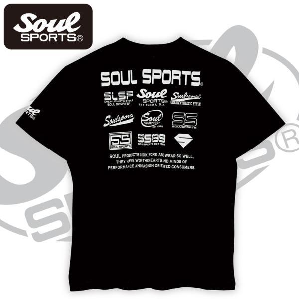 SOUL SPORTSオリジナル フェス風集合ロゴ半袖Tシャツ ブラック/ホワイト|soul-sports|07