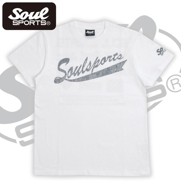 SOUL SPORTSオリジナル フェス風集合ロゴ半袖Tシャツ ブラック/ホワイト|soul-sports|10