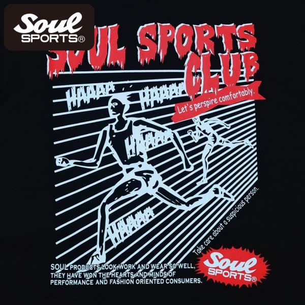 SOUL SPORTSオリジナル ホラー系マラソン半袖Tシャツ ブラック 2018新作 soul-sports 05