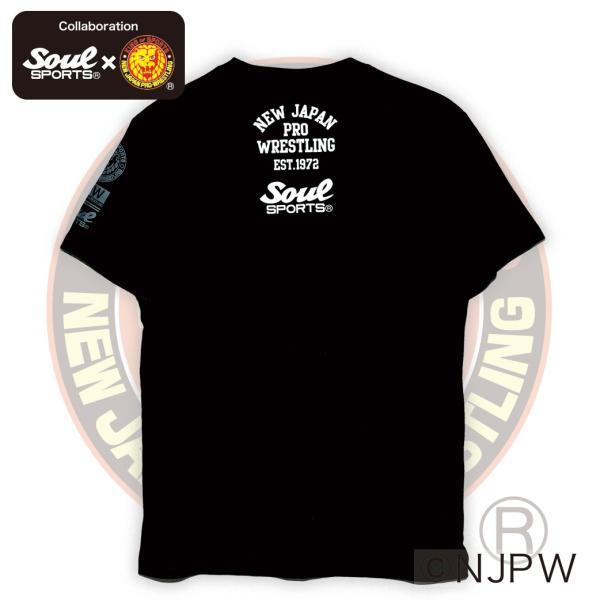 新日本プロレス×SOUL SPORTSコラボ NJPWデカロゴ半袖Tシャツ ブラック 2018新作|soul-sports|07