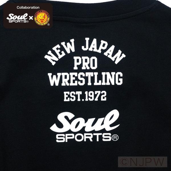新日本プロレス×SOUL SPORTSコラボ NJPWデカロゴ半袖Tシャツ ブラック 2018新作|soul-sports|08