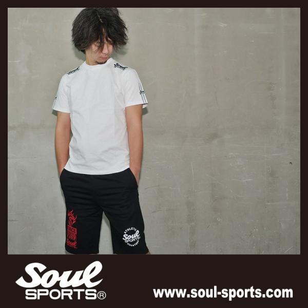 SOUL SPORTSオリジナル 袖テープロゴプリント半袖Tシャツ ブラック/ホワイト 2019新作 soul-sports 11