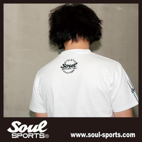 SOUL SPORTSオリジナル 袖テープロゴプリント半袖Tシャツ ブラック/ホワイト 2019新作 soul-sports 13