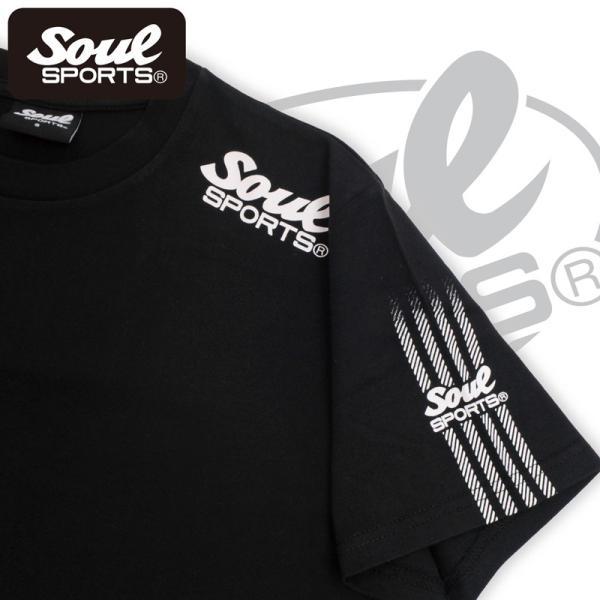 SOUL SPORTSオリジナル 袖テープロゴプリント半袖Tシャツ ブラック/ホワイト 2019新作 soul-sports 05