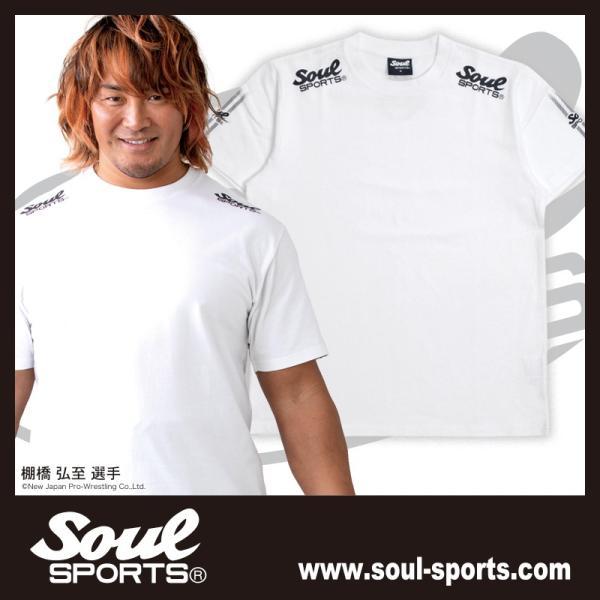 SOUL SPORTSオリジナル 袖テープロゴプリント半袖Tシャツ ブラック/ホワイト 2019新作 soul-sports 06