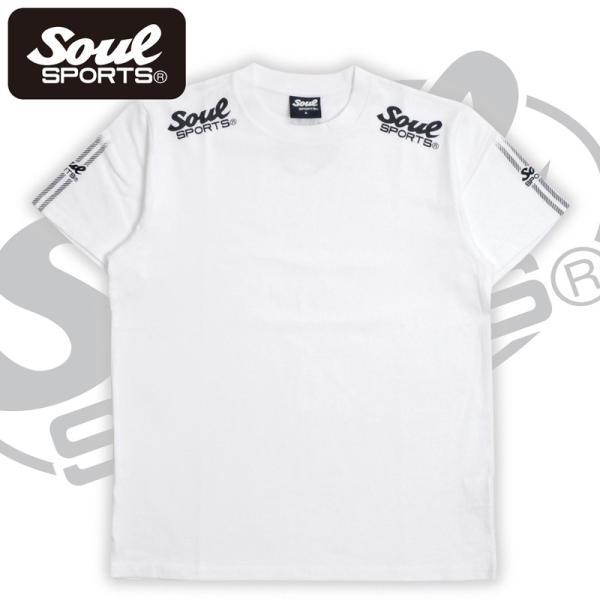 SOUL SPORTSオリジナル 袖テープロゴプリント半袖Tシャツ ブラック/ホワイト 2019新作 soul-sports 07