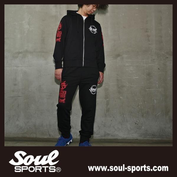 SOUL SPORTSオリジナル 集合ロゴジップパーカ ブラック 2018新作|soul-sports|12
