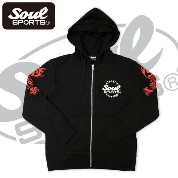 SOUL SPORTSオリジナル 集合ロゴジップパーカ ブラック 2018新作|soul-sports|04